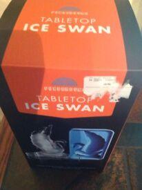 Tabletop Ice Swan