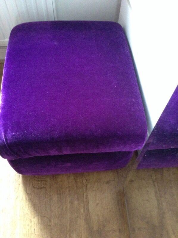 Purple Velvet Covered Storage Footstool Gumtree