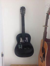 Guitar shelf with bob Dylan insert