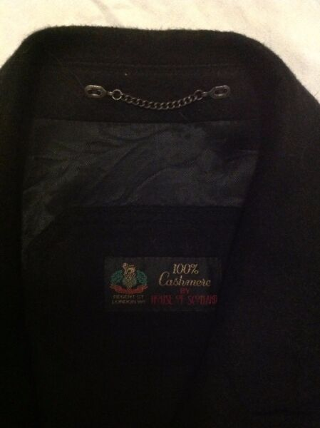 Pure Cashmere Coat - Black - House of Scotland brand