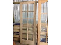 Brand new glass oak door