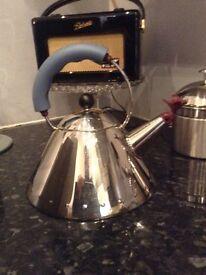 Designer allessi whistling kettle cost £120