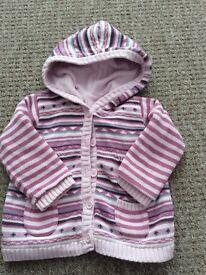 Girls 9-12 months Very thick winter cardigan/ Coatigan