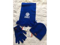 FRANKLIN MARSHALL Hat Scarf Gloves RRP £99.85 one size-Bought is Harrods