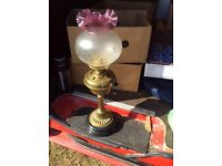 Superb antique oil lamp ��120 (collection coventry) super condition