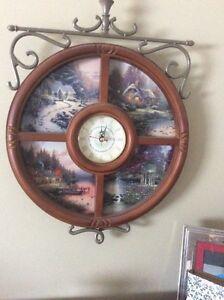 Thomas kinkade 4 seasons plates with clock Cornwall Ontario image 1