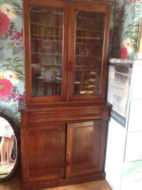 All Wood antique display or Bookcase or whatever you want storage