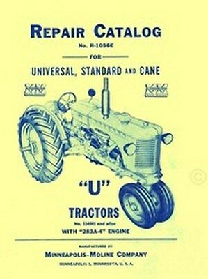 Minneapolis Moline U Utu Uto Parts Manual Catalog 283a