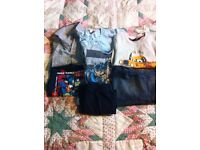 5 T. Shirts one jeans one shorts