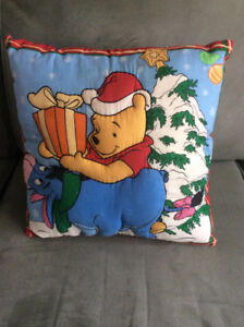 Winnie the Pooh Christmas Throw Pillow