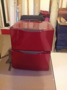 Pair of red pedestals for  whirlpool front loaders St. John's Newfoundland image 1