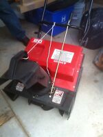 20 inch electric snowblower and electric start 70.00 firm