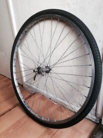 Quick Relese Bolt - 700 x 35c Bike Front Wheel Alloy Alluminium by RIGIDA -(37–622 28×15/8×13/8)