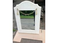 Vintage Shabby Chic Bevelled Wall Mirror