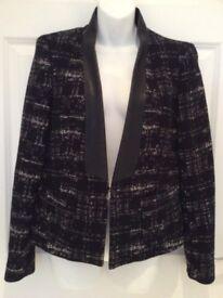 Zara black jacket (size large) - New