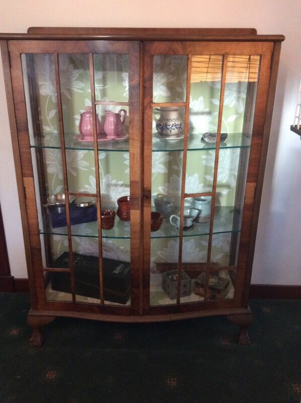 Vintage Glass Display Cabinet Annie Sloan Upcycle Project In