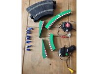 SCX Scalextric Curves Run Offs Pit Crew Controll and Transformer