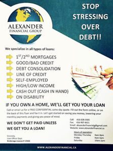 DEBT CONSOLIDATIONS-1ST/2ND MORTGAGES. FREE YOURSELF NOW!!