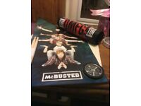 Busted and MCBUSTED poster tins