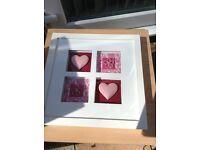 Pink n white frame