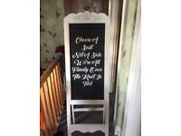 Black board easel stand