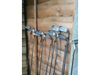 Decade golf club set with drivers and bag