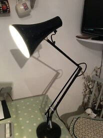 Old Metal Anglepoise Black Table Lamp