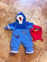Gagou Tagou snowsuit with hat 1mth