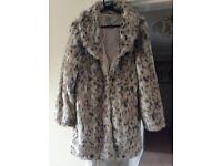 Faux fur coat size 12