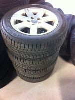 215-55-16 michelin x ice comme neuf et mag audi 5x112