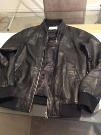 REISS men's leather jacket