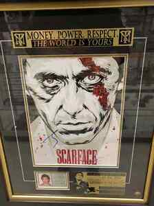 'SCARFACE HAND SIGNED with COA BY AL PACINO' CUSTOM FRAME
