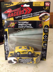 RC POCKET RACERS. As seen on Nickelodeon. Color yellow