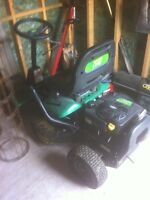 Weed eater riding lawnmower