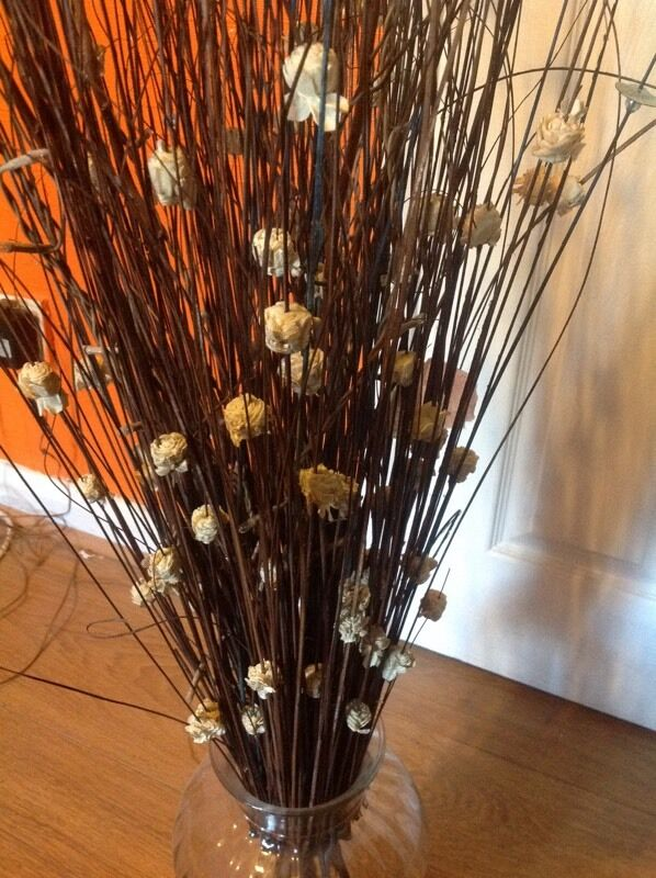 Glass Vase With Dry Flower Arrangements In Stratford London Gumtree