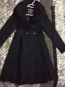 black wool fall/winter dress coat RW&CO