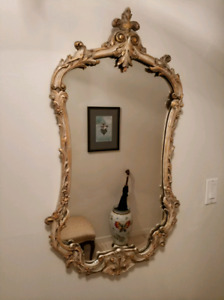 French Hall Mirror plaster & gilt frame