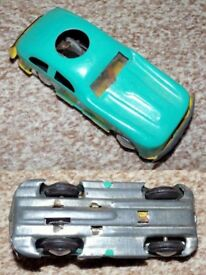 Vintage DAKOTA Mini Car Tinplate Friction Action Toy Car in box from circa 1950s