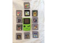 Game boy colour with 11 games