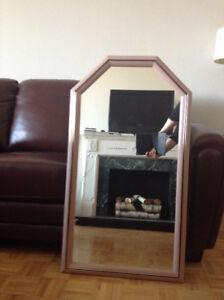 Vintage Rose Framed Beveled Glass Mirror w/ Black Trim – Mint Co