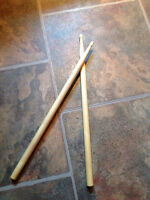 Used drum sticks