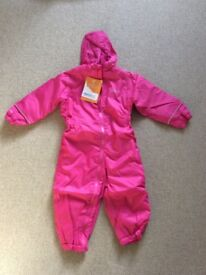 Pink Regatta snowsuit girls 2-3 years 24-36 months new with tags