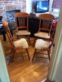 Set of 4, high quality, classic dining room chairs