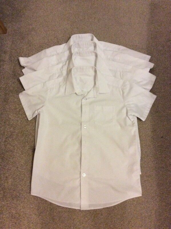 Short sleeved school shirts age 7-8 years