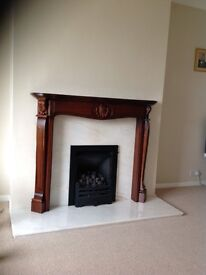 Lovely Marble Fireplace And Surround in very good condition
