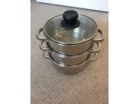 3 tier Steamer Saucepan with Lid