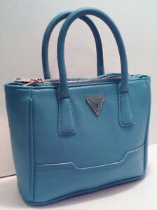 GUESS:  Blue Mini Delaney Crossbody/Shoulder Purse