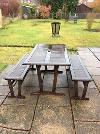 Teak Garden Seating Set.