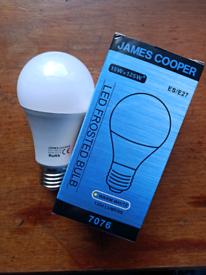 James Cooper light bulb LED frosted
