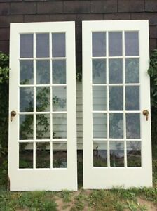 French doors (32x80) -  50$/for both - FOR SALE